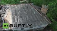 Ukraine: Drone footage captures shell damage in Gorlovka