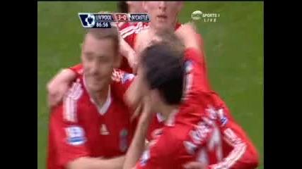 Ливърпул 3 : 0 Нюкасъл гол на Лукаш