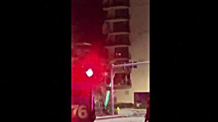 12-етажна жилищна сграда се срути във Флорида, има жертва и ранени