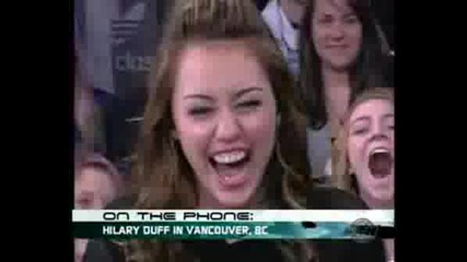 Miley Cyrus Gets A Call From Hilary Duff