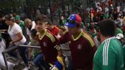 USA: Mexican fans celebrate group win after draw with Venezuela in Copa America