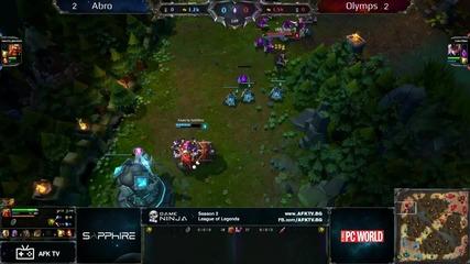 Game Ninja: Lol 1vs1 3/4 място Justabro vs Olymps игра 5