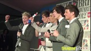 One Direction in the press room at Brit Awards 2012 - Interview by Sugarscape