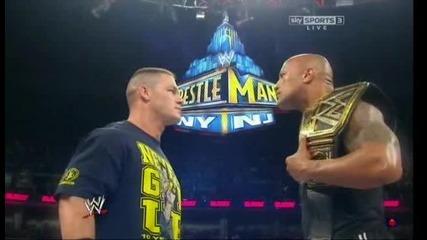 Wrestlemania 29 The Rock vs. John Cena Preview // Скалата - Джон Сина