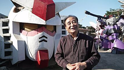 Get the Gundam look! Japanese barber builds huge statues of famous anime characters