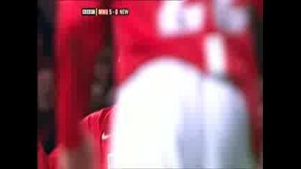 Манчестър Юнайтед - Нюкасъл 5 - 0 ( Роналдо )