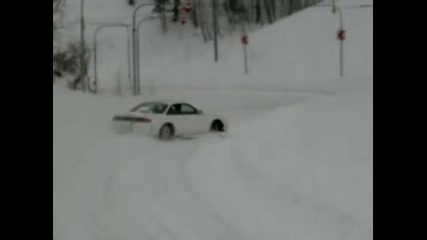 Snow drifting in Japan