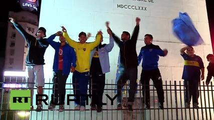 Argentina: Boca fans celebrate Copa victory