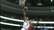 Derrick Rose blocks Andre Miller [hq]