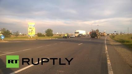 Американски военни машини по пътищата на Румъния