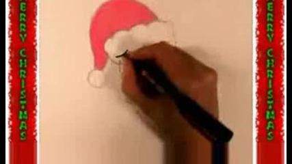 Рисуване На Homersimpson Като Дядо Коледа