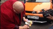 Руски бизнесмен изгори $20,000 в подкрепа на рублата