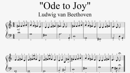 """Ludwig van Beethoven - Ode to Joy"" - Piano sheet music (by Tatiana Hyusein)"