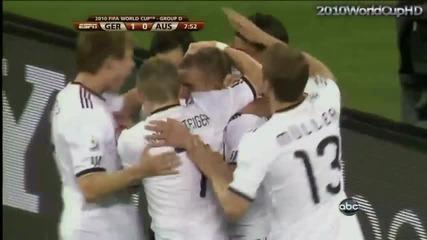 Германия - Австралия 1:0 Гол на Лукас Подолски - World cup 2010