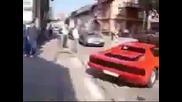 Идиотска катастрофа с Ferrari !!!