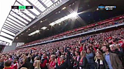 Ливърпул с трети гол срещу Лестър