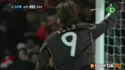 8.12.2010 Арсенал - Партизан 3 : 1 Мач от групите на Шампионска Лига