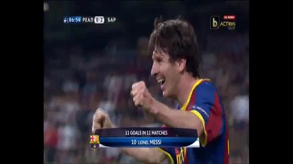 Реал Мадрид - Барселона 0:2 гол на Меси!!! (бг аудио)