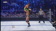 Drew Mcintyre counters a Hurricanrana and Powerbombs Trent Barreta throught the Corner