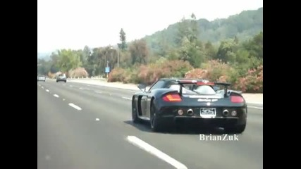Porsche Carrera Gt with Awe Tuning Straight Pipes In Action