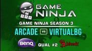 Game Ninja CS:GO #2 - arcade vs Virtual BG