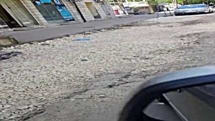 Разбита улица в центъра на гр. Русе