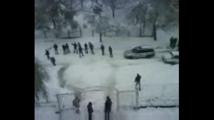 Малка Част От Снежни Забавления В Плевен :p