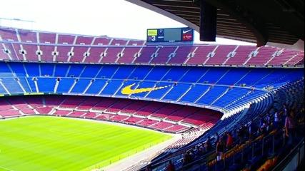 Легендарния Стадион на Барса Campnou 2013год. - Барселона