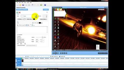 Как да сложим субтитри на видео с програмата Camtasia Studio 5.0 *hd*