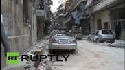 Syria: Young girl rescued after opposition rocket attack on Aleppo