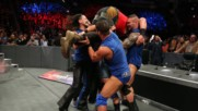 Team SmackDown puts Braun Strowman through the announce table: Survivor Series 2017 (WWE Network Exclusive)