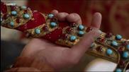 еничарите признаят шехзаде мустафа и му правят биад пред Сулеъман Хан