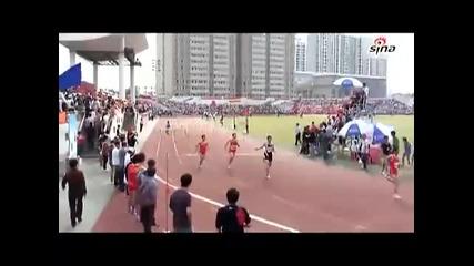Най - сакатия атлет в действие