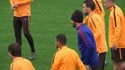 Рома тренира с мисъл за Барса
