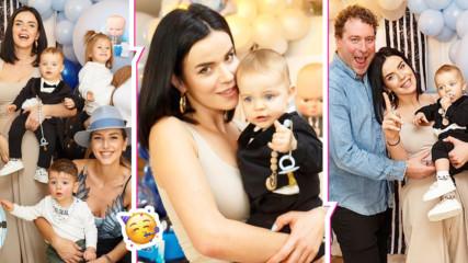 Куп звезди на първия рожден ден на Никола, синът на Мона Гочева