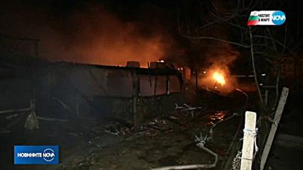 Голям пожар гори в Горна Оряховица