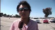 Gymkhana Grid - Ken Block Drifts Ford Fiesta & Daijiro Yoshihara Interviews
