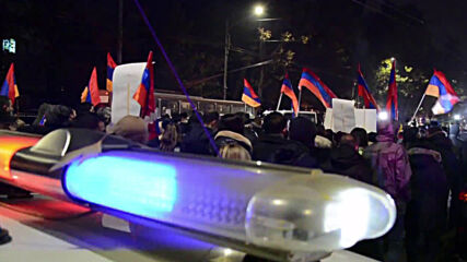 Armenia: Demonstrators demanding Pashinyan's resignation marched through streets of Yerevan