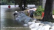 Речно наводнение в Кларксвил , Мисури 9.7.2014