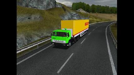 Euro Truck Simulator, Бг Мап и Тирове