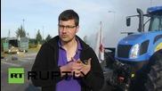 Франция: Протестиращи блокираха доставките на Лидл с горящи гуми