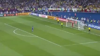 Уникалната дузпа на Andrea Pirlo Euro 2012 -
