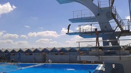 Скокове във вода - 30.06.2014г. - Басейн