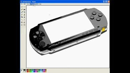How to draw a Psp in Ms Paint