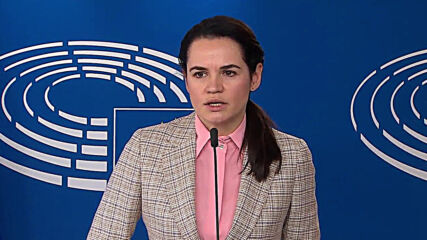 Belgium: Belarusian opposition leader Tikhanovskaya urges for support from EU countries