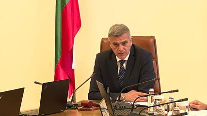 Премиерът Стефан Янев свика Съвета по сигурността