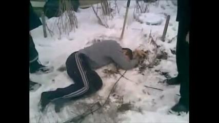 Крадец пада от петия етеж