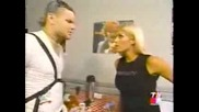 Jeff Hardy, Torrie & Trish - Backstage