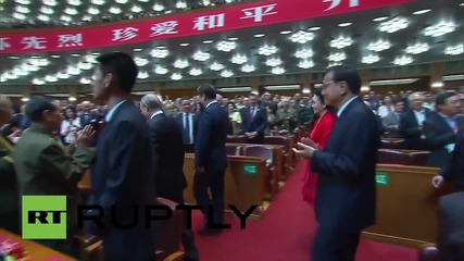 China: Putin and Xi Jinping attend WWII commemorative concert