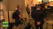 USA: Barcelona squad arrive at the Ritz Carlton for US tour